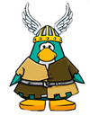 PENGUIN DRESSED AS A VIKING